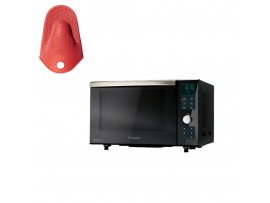 Cuptor cu microunde combi NN-DF383BEPG, 23l, 1000W, grill, Inverter, digital, negru,Panasonic---Manusa termica din silicon CADOU