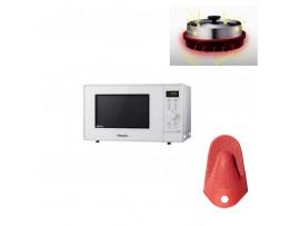 Cuptor cu microunde inverter, cu grill, capacitate 23L, 1000W,NN-GD34HWSUG,Panasonic---Manusa termica din silicon CADOU