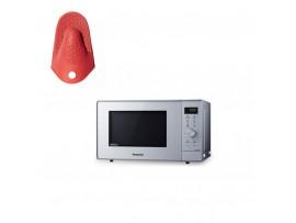 Cuptor cu microunde inverter, cu grill, 23L, 950W NN-GD361MEPG ,Panasonic---Manusa termica din silicon CADOU