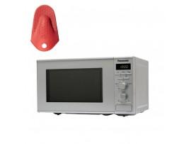 Cuptor cu microunde, cu grill, capacitate 20L, 800W NN-J161MMEPG, grill,Panasonic---Manusa termica din silicon CADOU