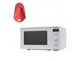 Cuptor cu microunde, capacitate 20L,  800W  NN-S251WMEPG ,Panasonic---Manusa termica din silicon CADOU