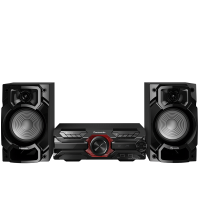 Microsistem audio High Power SC-AKX320E-K, 450 W RMS, Dual USB, Bluetooth, Max Juke App., Subwoofer 16cm Panasonic