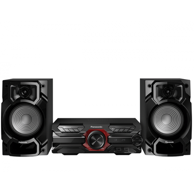 Microsistem audio High Power SC-AKX320E-K, 450 W RMS, Dual USB, Bluetooth, Max Juke App., Subwoofer 16cm Panasonic