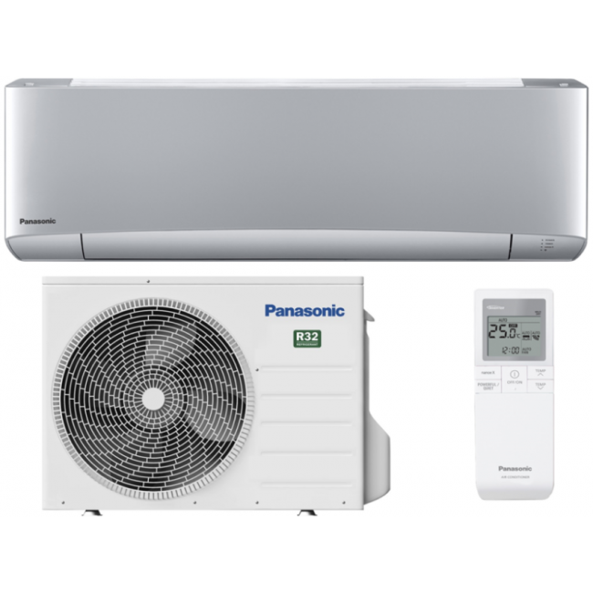 Aparat aer conditionat Panasonic Etherea Inverter+, Clasa A+++, R32, KIT-XZ25VKE, 9000BTU, argintiu mat, KIT WI-FI INTEGRAT