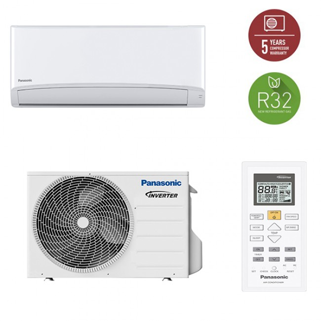 Aparat aer conditionat Panasonic Compact Inverter, Clasa A++, R32, KIT-TZ25TKE-1, 9000BTU