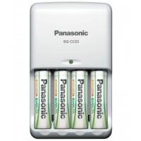 Incarcator Panasonic BQ CC03E 1KA cu 4 acumulatori tip AA(R06E) inclusi ,putere 1900mAh