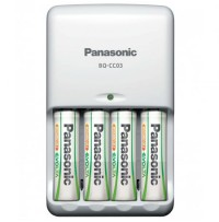 Incarcator Panasonic BQ-CC03E 1KA cu 4 acumulatori tip AA(R06E) inclusi ,putere 1900mAh
