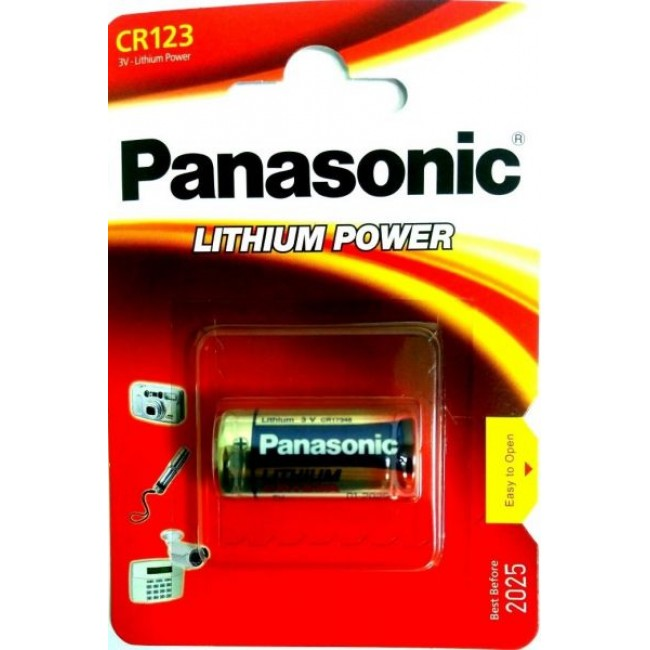 Baterie Panasonic CR-123, 3V, litiu