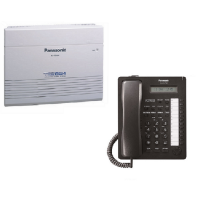 Panasonic - KX-TES824CE-P(8/24+AT7730) - Pachet centrala telefonica analogica & KX-AT7730NEB