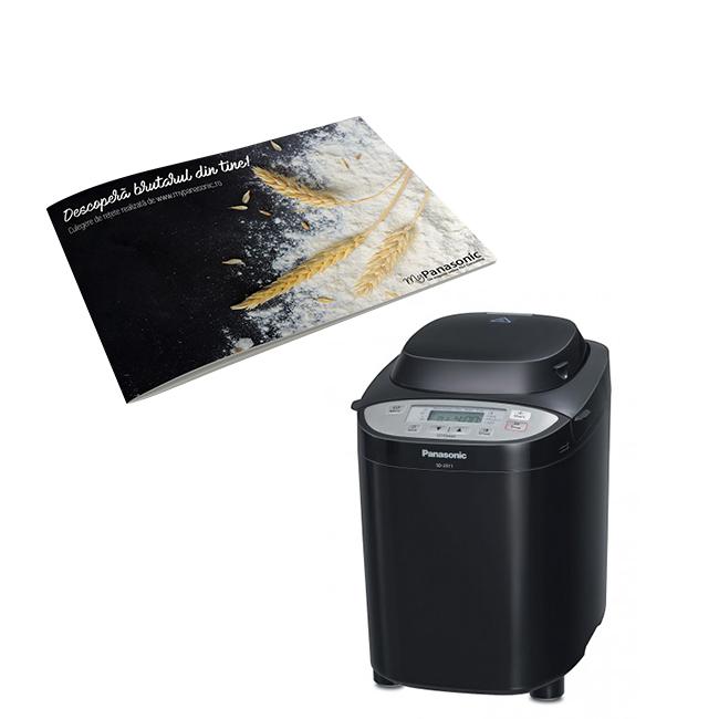 Masina de paine cu distribuitor automat pentru seminte SD-2511KXE, Panasonic---Culegere de retete CADOU