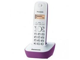 Telefon DECT alb/violet, KX-TG1611FXF, Panasonic, TESTARE in showroom
