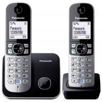 Telefon DECT Panasonic KX TG6812FXB, twin, negru