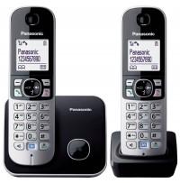 Telefon DECT twin, negru, KX-TG6812FXB, Panasonic