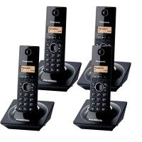Pachet format din 4 Telefoane Dect KX TG1711FXB, negru