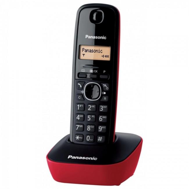 Telefon DECT rosu/negru, KX-TG1611FXR, Panasonic,