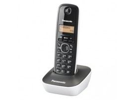 Telefon DECT alb/negru, KX-TG1611FXW, Panasonic