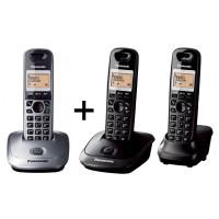 Pachet format din 3 telefoane DECT KX TG2512FXT+KX TG2511FXM