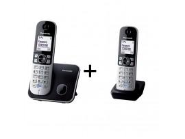 Pachet format din 2 telefoane DECT Panasonic KX-TG6811FXB+ KX-TGA681FXB, TESTARE in showroom