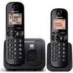 Telefon DECT Panasonic KX-TGC212FXB, twin, negru