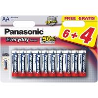 Baterie Panasonic LR6EPS/10BW6+4F, 1,5V, 14 buc.