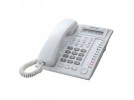 Telefon proprietar Panasonic KX-T7730CE, analogic, alb