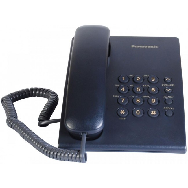 Telefon analogic Panasonic KX-TS500FXC,indigo,TESTARE in showroom