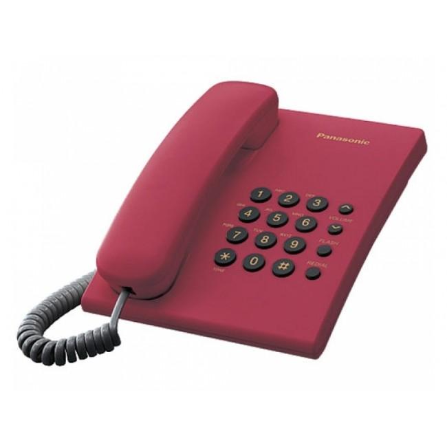 Telefon analogic Panasonic KX-TS500FXR,rosu,