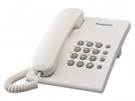 Telefon analogic Panasonic KX-TS500RMW, alb, TESTARE in showroom
