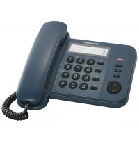 Telefon analogic Panasonic KX-TS520FXC, indigo, TESTARE in showroom
