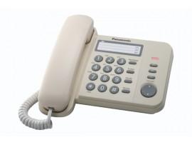 Telefon analogic Panasonic KX-TS520FXJ, crem