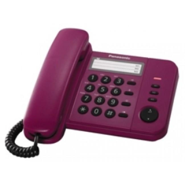 Telefon analogic Panasonic KX-TS520FXR ,rosu