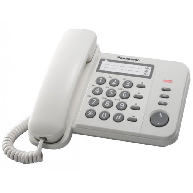 Telefon analogic Panasonic KX-TS520FXW,alb, TESTARE in showroom