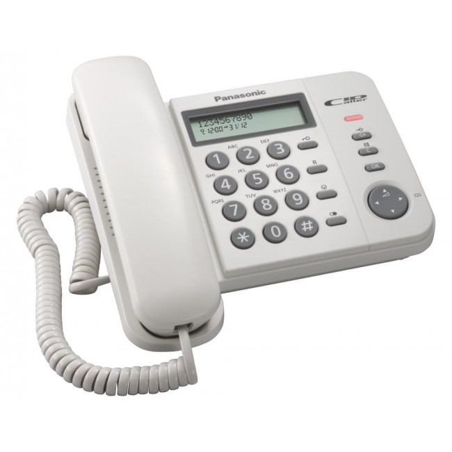 Telefon analogic Panasonic KX-TS560FXW, TESTARE in showroom