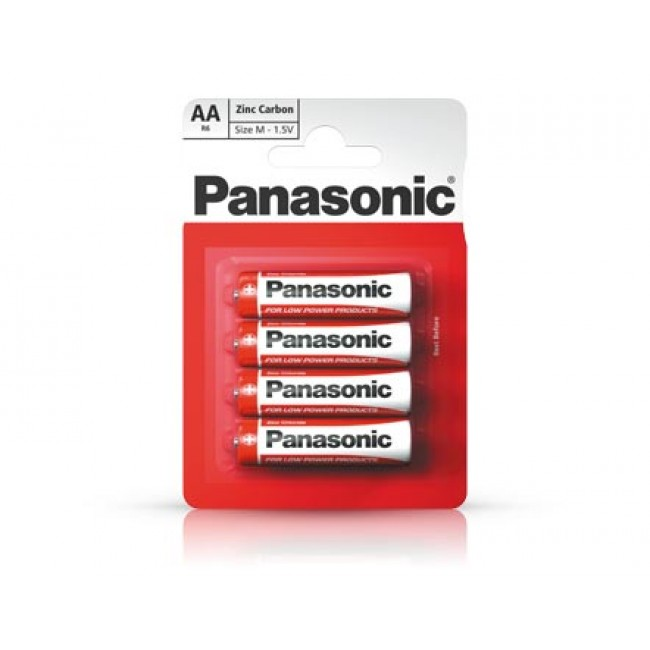Baterii Panasonic R6RZ/4BP, 15V Zinc Carbon