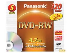 Disc DVD-RW PanasonicLM-RW120E5  4,7 GB 1-2x