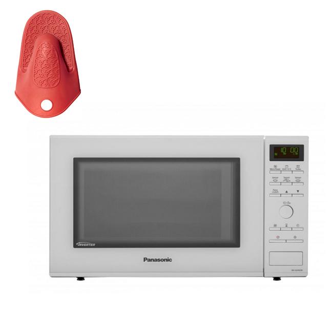 Cuptor cu microunde inverter, cu grill, capacitate 31L, 1000W ,NN-GD452WEPG Panasonic---Manusa termi