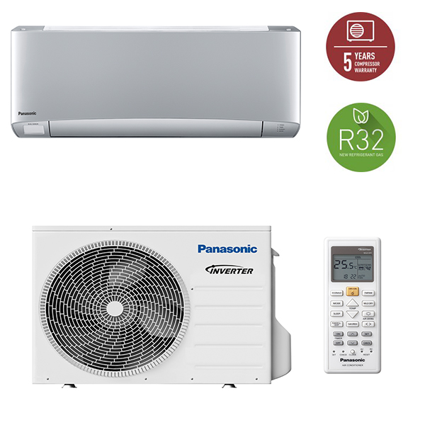 aparat aer conditionat panasonic kit-xz35-tke, a+++, 12000btu, r32, silver
