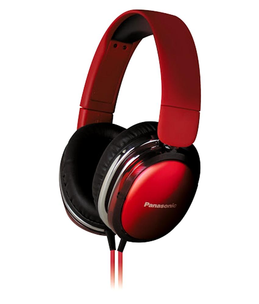 Casti audio tip monitorcreate special pentru iPhone,Android RP-HX350E-R Panasonic,rosu