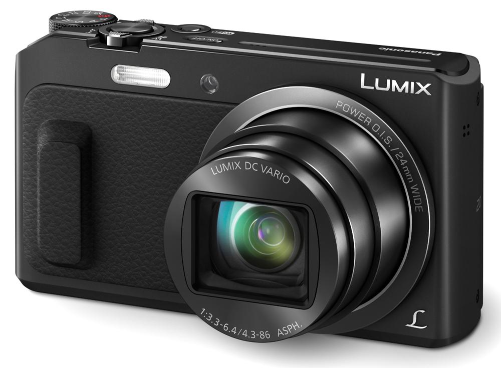 camera foto camera de buzunar dmc-tz57ep-k,senzor mos de 16 megapixeli,power o.i.s.stabilizator optic de imagine, panasonic
