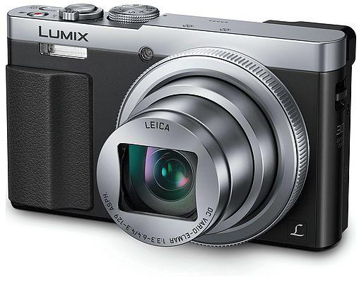 camera foto de buzunar,dmc-tz70ep-s, zoom optic 30 x senzorul mos de 12,1 megapixeli hibrid ois +, panasonic