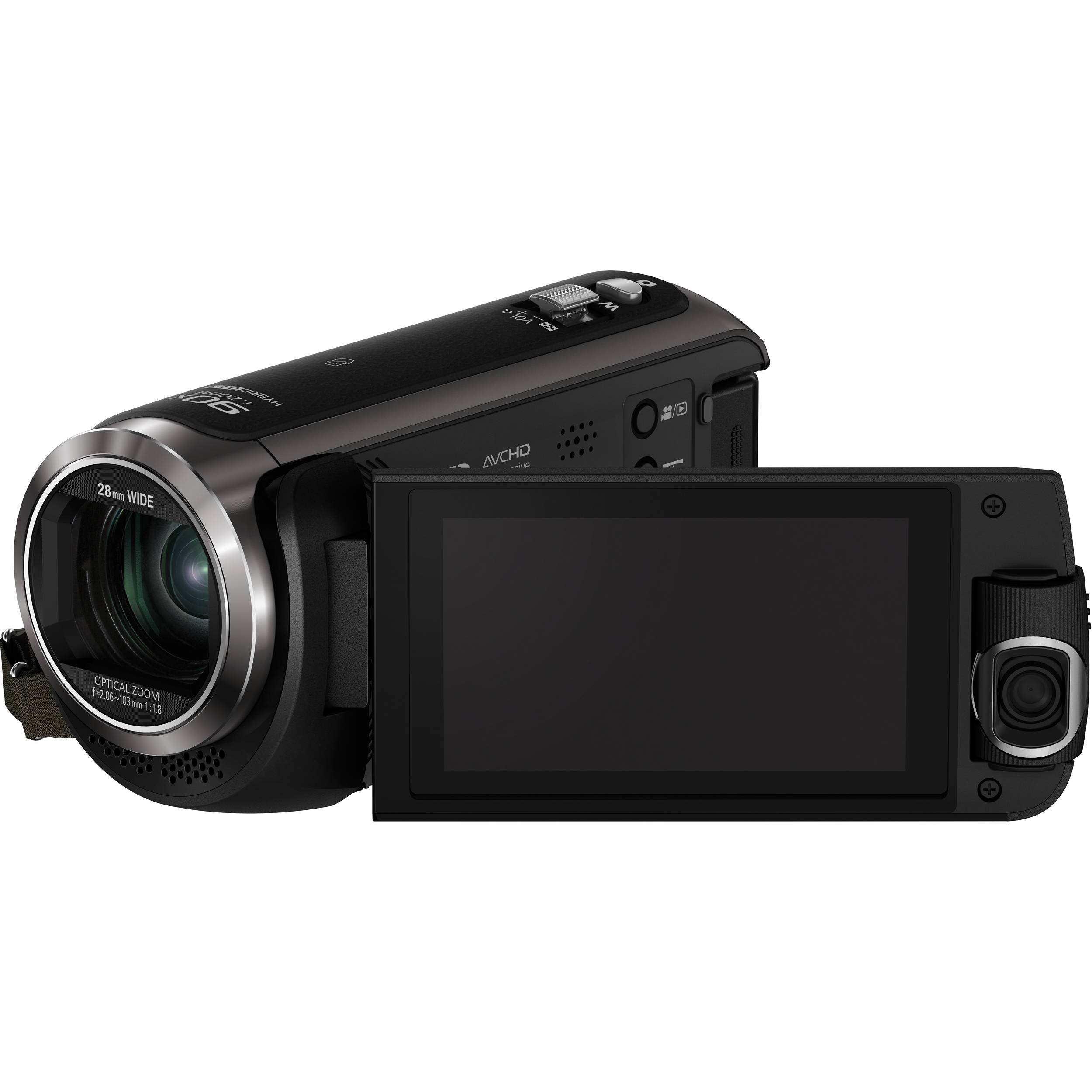 camera video hc-w570ep-k,filmare full hd,filmare dubla,senzor mos bsi 1/5.8 de 2.5mpx, panasonic