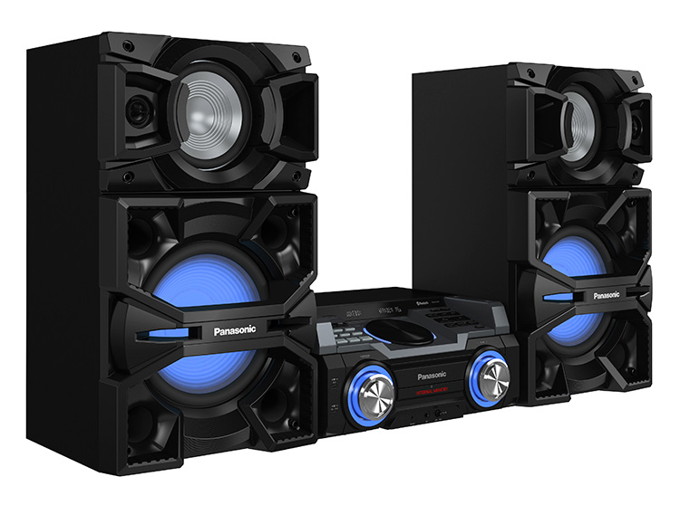 sistem audio sc-max4000ek, 2400w, usb, bluetooth, iluminare led, panasonic