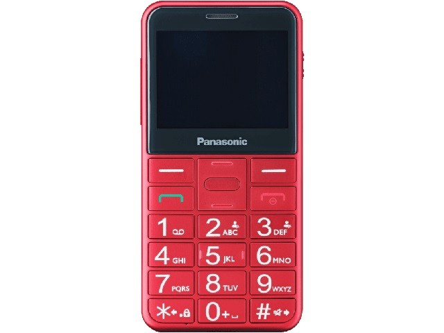 Telefon mobil Panasonic KX-TU150EXR pentru Seniori cu buton SOS, Rosu --- Testare in showroom