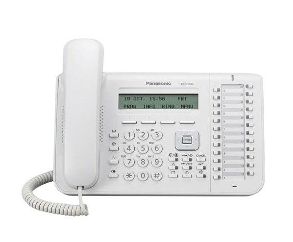 telefon proprietar panasonic kx-nt543x, ip,alb