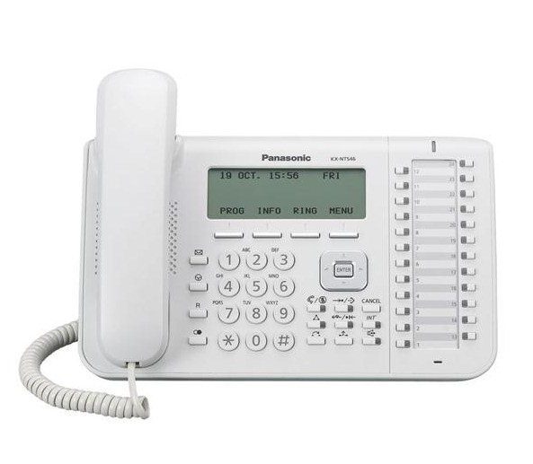 telefon proprietar panasonic kx-nt546x,ip , alb