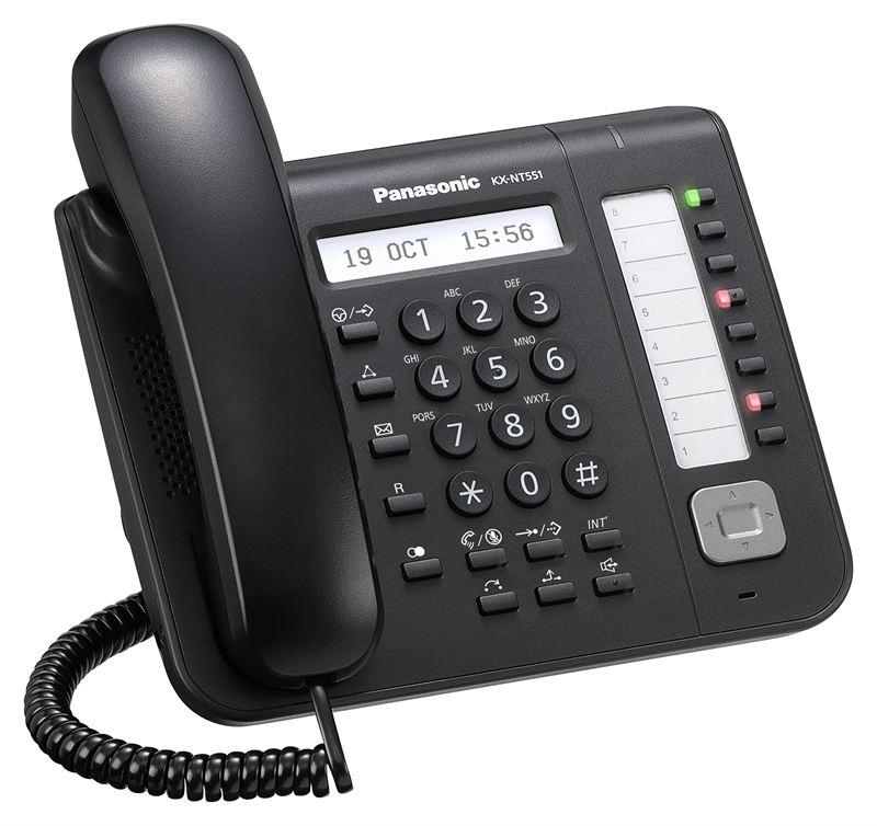 telefon proprietar panasonic kx-nt551x-b, ip, negru