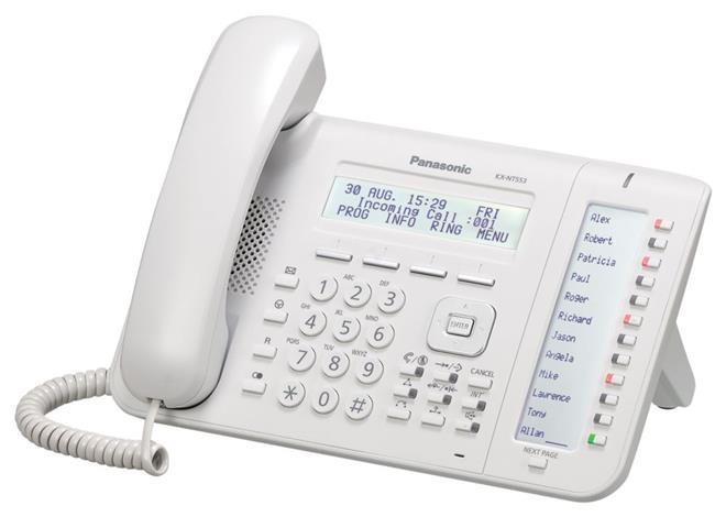 telefon proprietar panasonic kx-nt553x, ip, alb