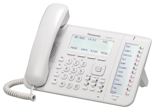 telefon proprietar panasonic kx-nt556x, ip, alb