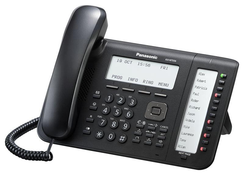 telefon proprietar panasonic kx-nt556x-b, ip , negru