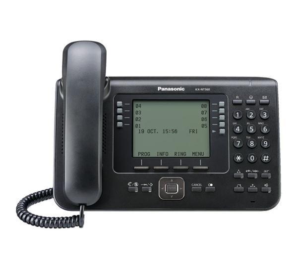 telefon proprietar panasonic kx-nt560x-b, ip, negru